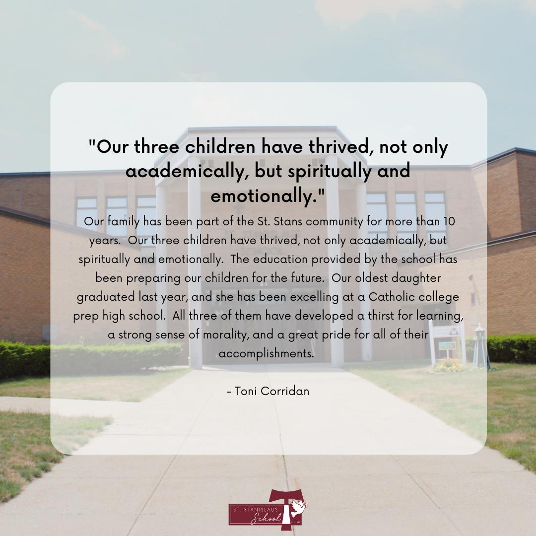 parent testimonial review